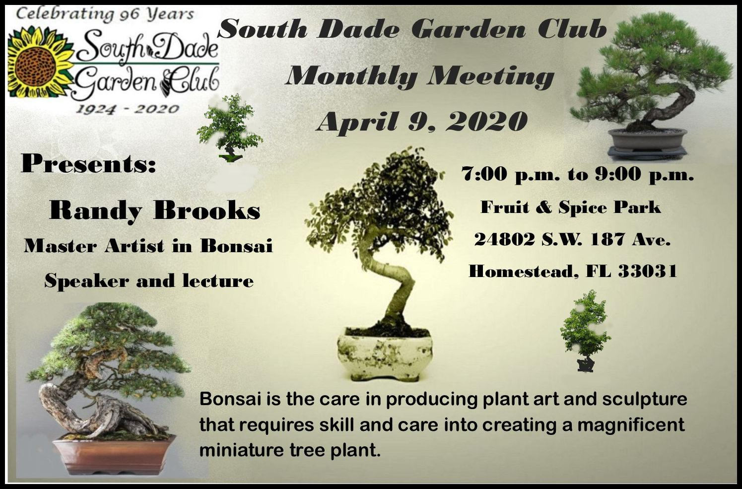 South Dade Garden Club Monthly Meeting Homestead Center For The Arts